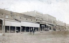 Knobel Arkansas Clay County | Main Street in Rector (Clay County); 1915.