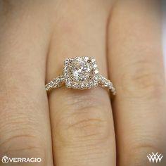 Cushion Halo Diamond Engagement Ring by Verragio | 1931