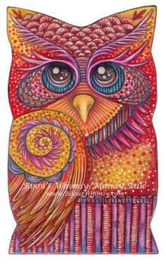 Owlette OPHIRA  PRINT 8 x 10 by Mandy Saile by BijousWhimsy, $20.00