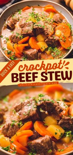 Savor this warm and hearty crockpot beef stew recipe with this easy dinner idea! Slow-cooked to perfection and voila! This beef recipe is a superb comfort food. Fire one up now! Healthy Slow Cooker, Slow Cooker Recipes, Crockpot Recipes, Healthy Soups, Healthy Recipes, Chowder Recipes, Soup Recipes, Vitamix Recipes, Party Recipes