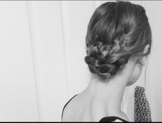 -Braided bun- Braided pigtails twisted into a bun