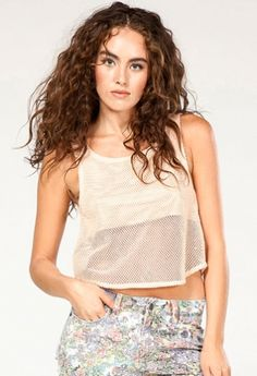 Part mesh, part opaque, all around awesome. Shop the Love Addict Top! $50