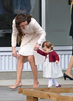 Catherine, Duchess of Cambridge and Princess Charlotte depart Victoria after the Royal Tour of Canada at Victoria Inner Harbour on October 1, 2016 in Victoria, Canada