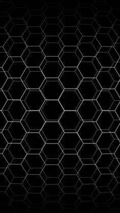black . 3D hexagon grid