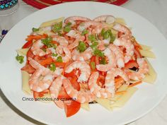 Cinco sentidos na cozinha: Salada de massa com camarão e tomate e maionese ca...