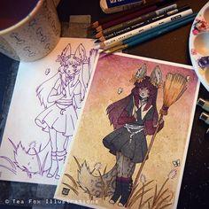 Traditional artist inspired by Japanese yokai. DeviantART: TeaKitsune Facebook: TeaFoxIllustrations Twitter: TeaKitsune teafoxillustrations@gmail.com