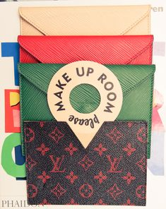 """These are Louis Vuitton envelopes from the shows (the invitation comes inside)."" http://www.thecoveteur.com/melissa-rubini/"