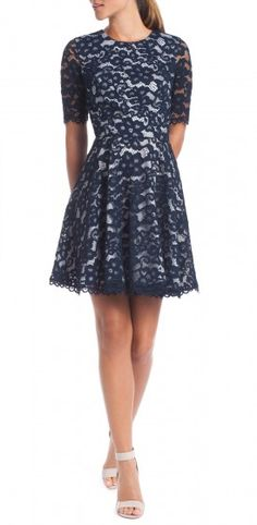 Shoshanna Dresses Navy Lace Patricia Gallery Lace Dresses navy lace