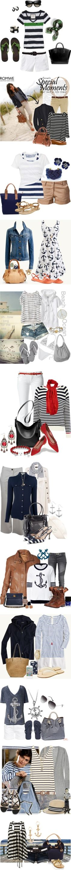 """My Favourite Nautical Sets"" by inmango ❤ liked on Polyvore"