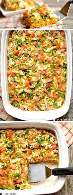 All the delicious flavors of CHICKEN TAMALES comes together in this easy crowd pleasing dish! Chicken Tamale CASSEROLE is a twist on a classic Mexican dish that includes a delicious jalapeño cheddar cornbread base.