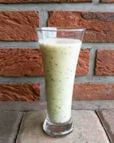 Chillin' with a banana-kiwi smoothie today...