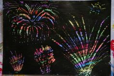 Create with your hands: Scratch Art Firework Pictures
