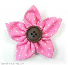 Make a hair clip flower Kanzashi Flower Maker - {The Ribbon Retreat Blog}