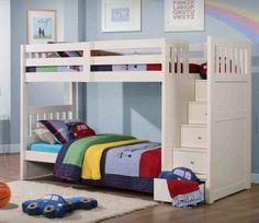 kinderzimmer hochbett jungenzimmer zwei kinder farbige decken