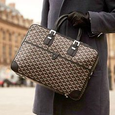 What will complement any #fall layering style is the amazing #Goyard Ambassade document bag are you ready for cooler weather?  #mensfashion #menstyle #menswear (Source: Tumblr)