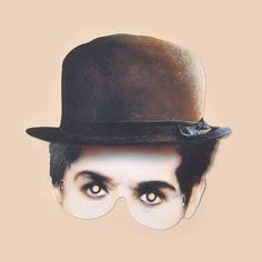 Charlie Chaplin Mask - Masks - Mamelok Papercraft - Embossed, diecut Victorian scrap reliefs, cards, masks, cards, friezes, garlands, dress-up dolls