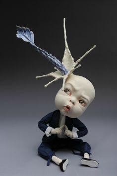 Johnson Tsang, Oops, 2015. Porcelain and figure model. L21 W23 H39cm © Johnson Tsang