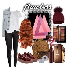 """""""Flawless"""" by tropical-vegas-finest ❤ liked on Polyvore featuring H&M, Paco Rabanne, Puma, MINKPINK and rag & bone"""