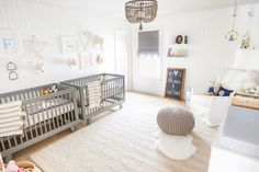 Read More on SMP: http://www.stylemepretty.com/living/2015/05/04/a-gender-neutral-nursery-for-twins/
