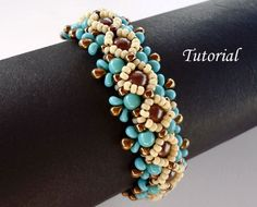 Tutorial Ojo Bracelet - Instant download, beading tutorials PDF