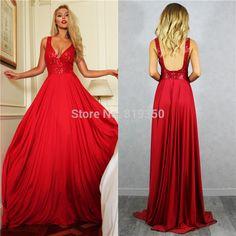 Resultado de imagen para vestidos rojos largos de noche