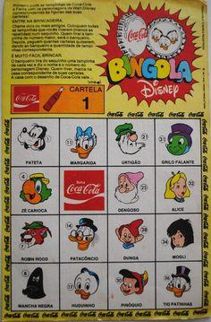 1977 / 1978 cartela Bingola Disney: