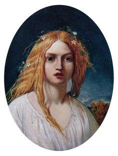 """William Gale (British, 1823-1909), """"Ophelia"""""""
