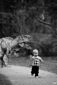 This would be hilarious on an invitation for a dinosaur birthday party!!