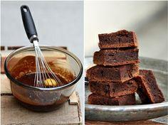 Dark chocolate brownies - yum- by passionate by baking.