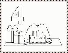 Résultat d'image pour carte d'anniversaire pour tout-petits Preschool Kindergarten, Preschool Activities, Printable Alphabet Letters, Teaching Numbers, Petite Section, Pre School, Party Time, Coloring Pages, Crafts For Kids