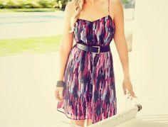 cute! like dress, belt, and bracelet combo