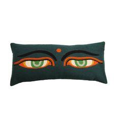 Nushka - 'Drolma' hand-stitched embroidered cushion £ 210 - Lindell & Co - Cushions