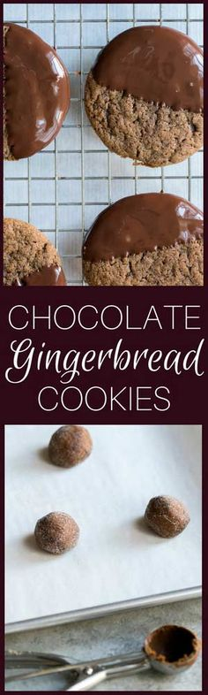 Soft Gingerbread Cookies with Chocolate are perfect for serving at holiday parties or giving away as gifts! They're just the right balance of soft and chewy.
