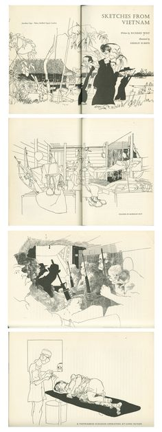 Sketches from Vietnam by Richard West + Gerald Scarfe