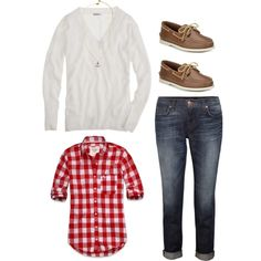 OOTD by southernbelle on Polyvore featuring Abercrombie & Fitch, J Brand, Sperry Top-Sider and Juicy Couture