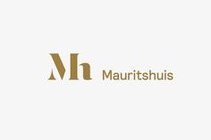 Monogram and logotype designed by Dumbar for art museum Mauritshuis
