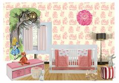 A Classic Alice in Wonderland Nursery in a New Way by casart. Create your own interior design moodboard now! Get In The Mood, Design Boards, Mood Boards, Alice In Wonderland, Valance Curtains, Create Your Own, Nursery, Interior Design, Wallpaper