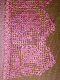 Various Fabrics - Manual Creativity, Crochet Doily Patterns, Crochet Borders, Crochet Squares, Crochet Motif, Crochet Doilies, Stitch Patterns, Filet Crochet, Thread Crochet, Crochet Stitches