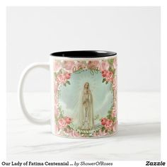 Blessed Virgin Mary Our Lady of Fatima Two-Tone Coffee Mug - traditional gift idea diy unique