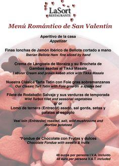 Valentine's Menu at LaSort Restaurant! Come to celebrate!   www.lasort.com