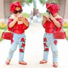 Baby Girl Items, Cute Baby Girl Outfits, Cute Outfits For Kids, Toddler Girl Outfits, Cute Baby Clothes, Baby Girl Dresses, Toddler Fashion, Kids Fashion, Outfits Niños