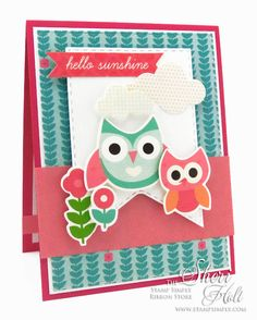 MY SHERI CARDS: The Stamp Simply Ribbon Store - Kaisercraft Little One with Collectables - designed by Sheri Holt