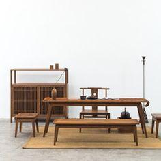 【失物招领】闲 . 茶桌、茶椅、茶凳|现代中式简约实木茶室家具