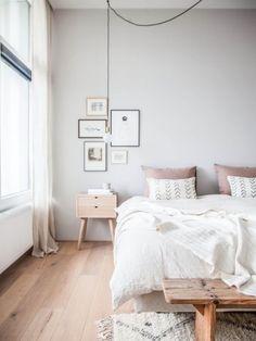 Super home modern bedroom color schemes ideas Bedroom Wood Floor, Gray Bedroom, Trendy Bedroom, Home Decor Bedroom, Modern Bedroom, Bedroom Wall, Bedroom Ideas, Bedroom Simple, Bed Room