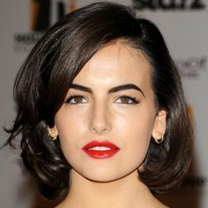 Camilla Belle does modern day Marilyn with her tucked bob. Get her look from our selection of iconic Hollywood styles from our 'Glam to Go' menu