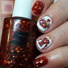 Iron Man Nails #TeamIronMan #ironman #indiepolish #notd