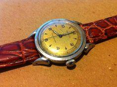 Debonair Benrus Swiss Watch Mens Gold Tone Dial