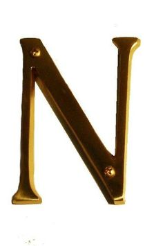 """Brass Accents I07-L91N0-609 Antique Brass Address Letters Traditional 4"""" Letter N I07-L91N0 by Brass Accents. $11.78. Traditional 4"""" Letter N Garden Owl, Garden Plaques, Garden Sculptures, Polished Brass, Pedestal, Outdoor Gardens, Antique Brass, Cast Iron, Living Spaces"""