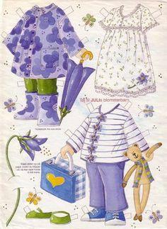 Bonecas de Papel: Meninas Floridas - Violeta