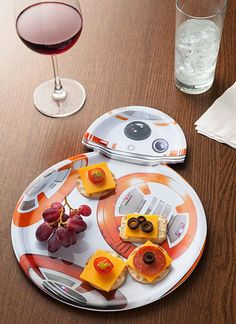 BB-8 makes the perfect party guest when the droid serves the snacks. ThinkGeek